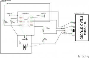 Circuit capteur de niveau de cuve